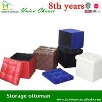 storage ottoman faux leather