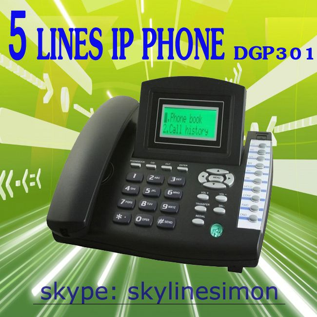 voip device 5 lines sip ip phone support voip conference phone