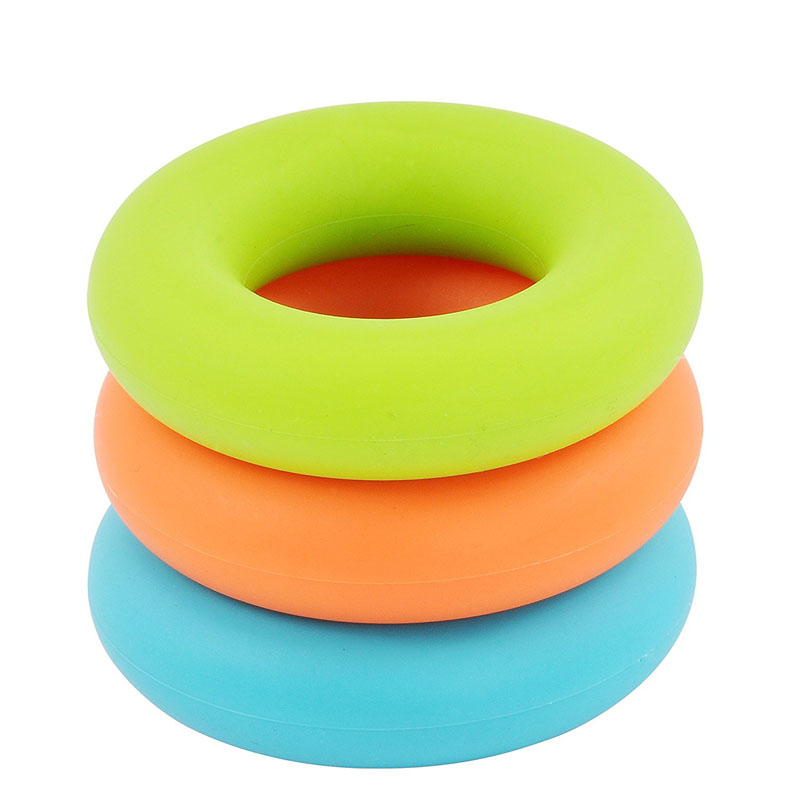 Hand and Forearm Strengthener Silicone Exercise Rings For <strong>Fitness</strong> , Rock Climbing , and Stress Relief