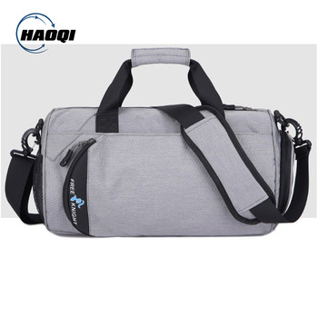 Light weight custom duffle bag durable sports travel bag with shoe compartment