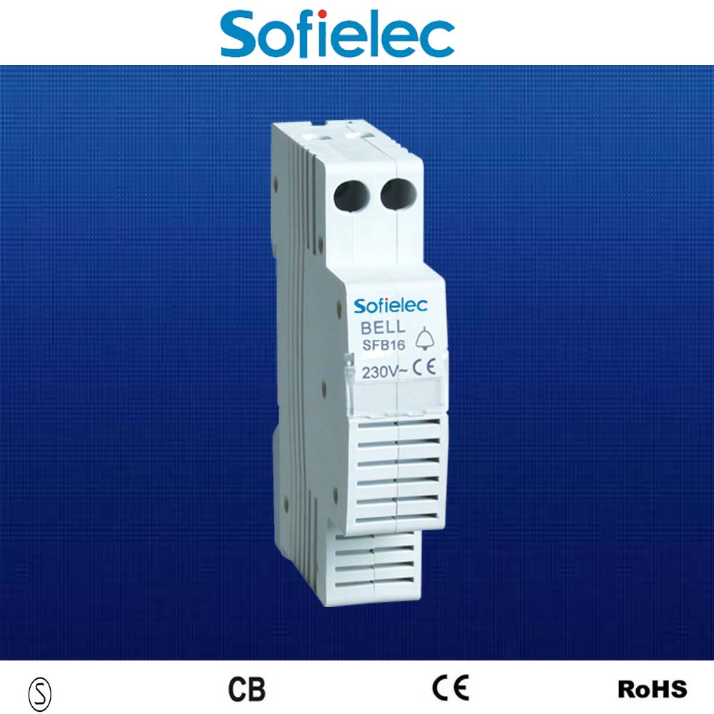 Hot sale din rail type 230v alarm electric bell CE approvl