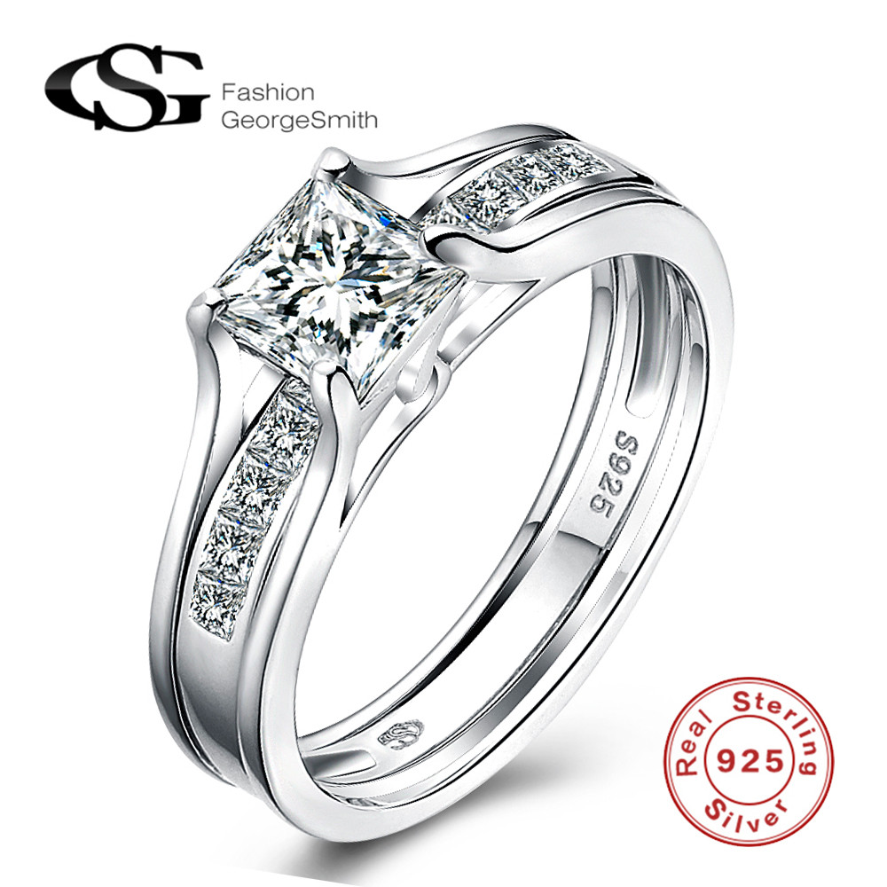Latest Silver Finger Ring Designs Diamond Ring 925 Sterling Silver ...