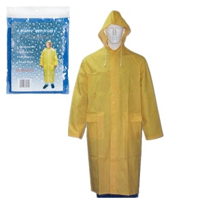 cheapest adult pvc yellow raincoat