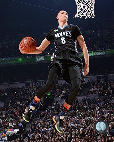 0a7c4fb7a4d4 Get Quotations · Zach LaVine Minnesota Timberwolves NBA Slam Dunk Contest  Photo (Size  8