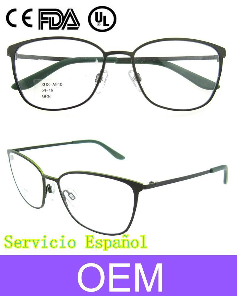 2015 ultima moda monturas de gafas de vista de inoxidable para ...