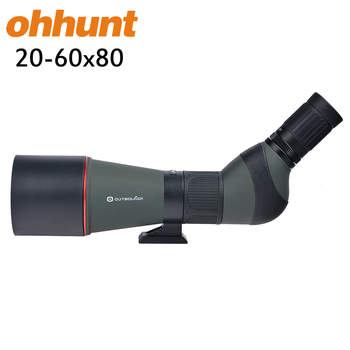 Waterproof 45-Degree Zoom Monocular Telescopes Birding Watching 20-60x80 Angled Hunting Spotting Scope with Tripod