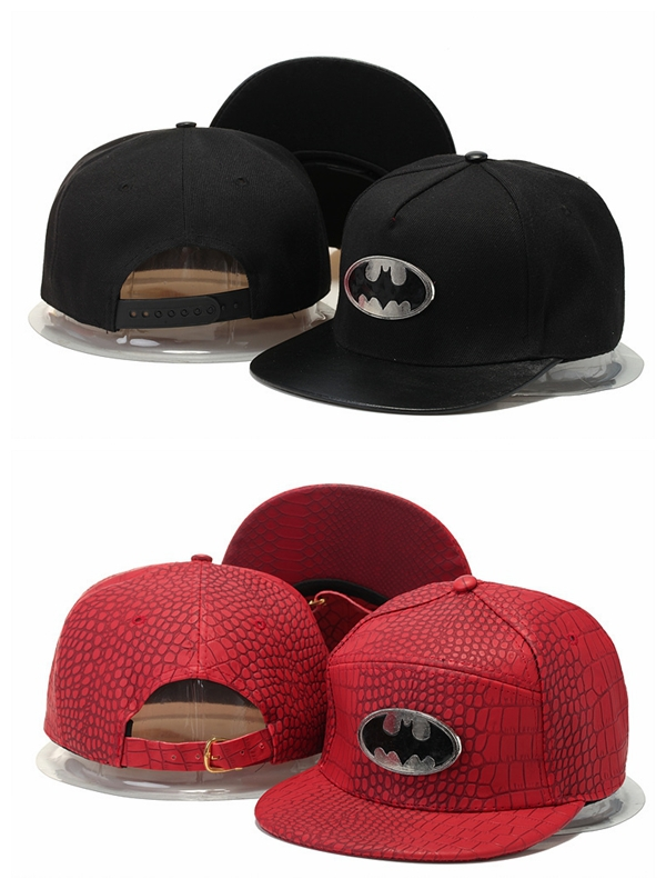 210a855bee1 Get Quotations · Batman Snapback hats strapback full snakeskin leather brim  metal gold mens Chapeu Causal Casquettes gorras bones