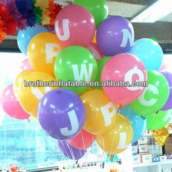 Factory Price Wholesale Happy Birthday Party Helium Free Latex Printed Balloon
