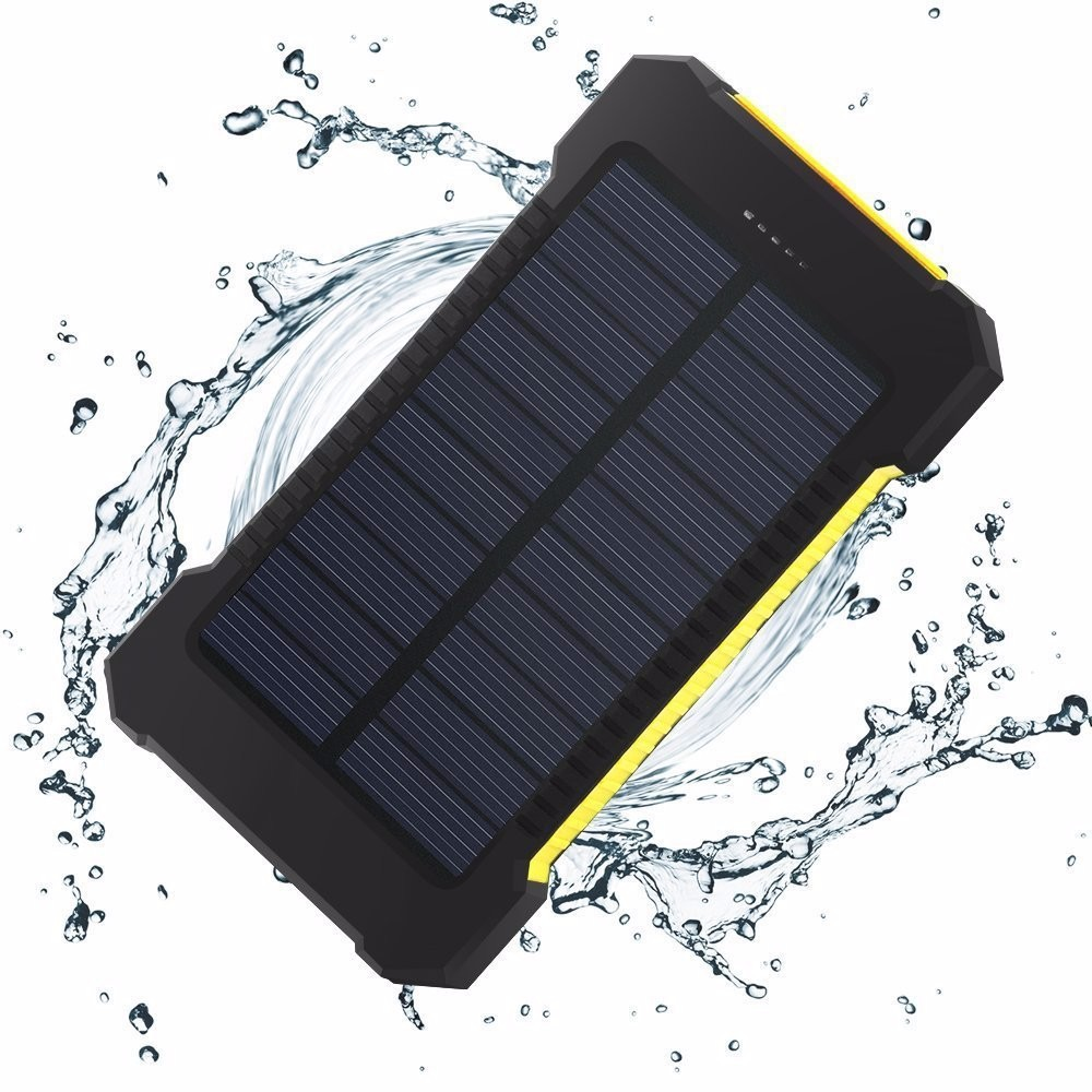Solar Power Bank Dual USB Power Bank 20000mAh waterproof powerbank bateria external Portable Solar Panel with LED light
