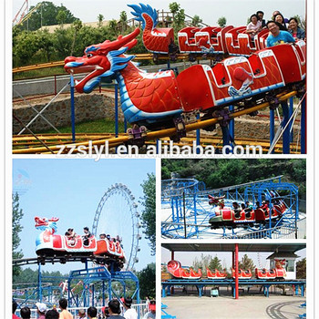 Real Factory Amusement Backyard Roller Coasters Dragon Train Ride For Sale