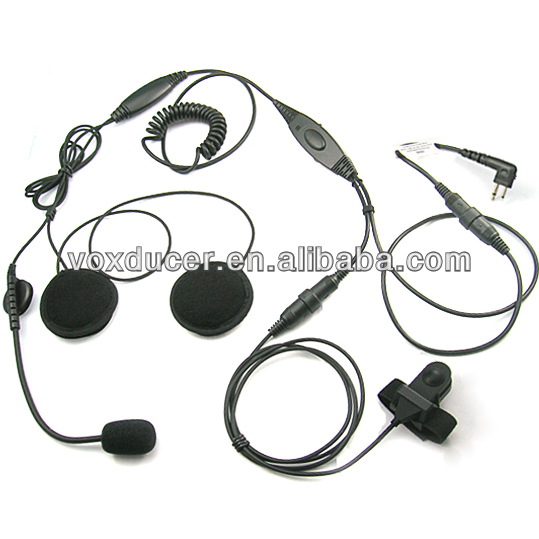 Motorcycle Helmet Earphone for Motorola PR400 , Mag One BPR40, EP450 , AU1200 two way radio