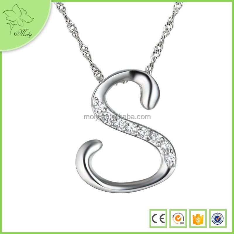 Fashion Letter S Pendant Jewelry, Fashion Letter S Pendant Jewelry ...