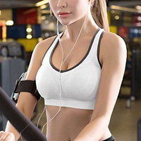 2019 New design trendy latest summer women padded seamless high impact support for Yoga gym workout fitness tops