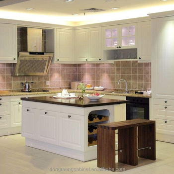 High Gloss Lacquer Solid Wood Insert Modular Kitchen Cabinets For