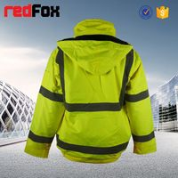 reflective roadway protective safety yellow work wear