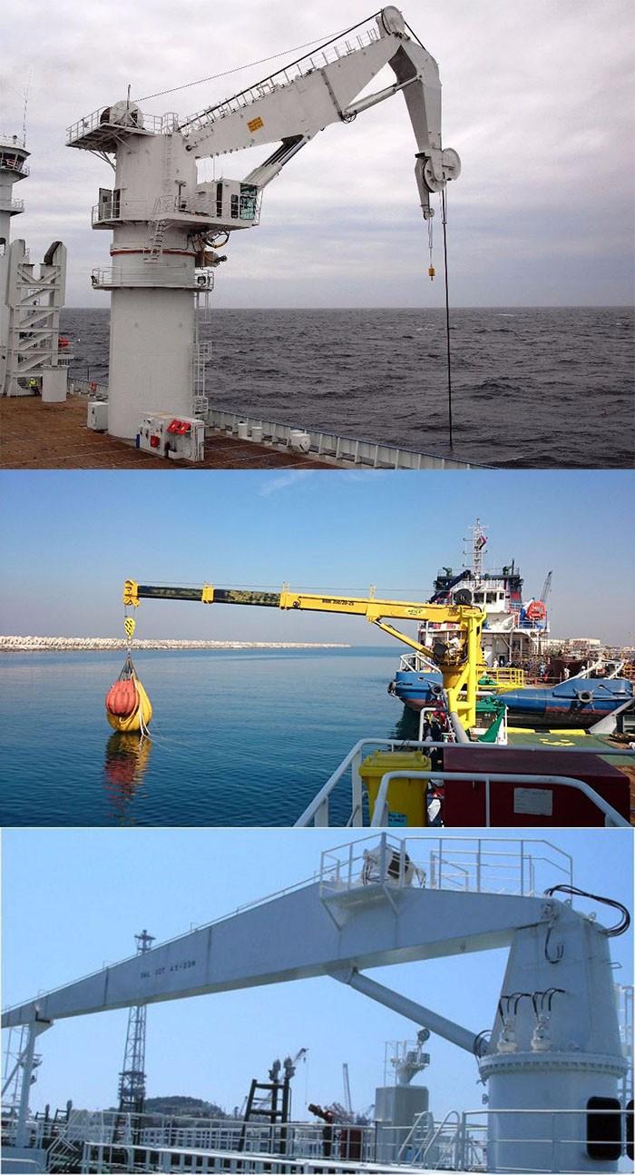 marine deck crane ship used knuckle boom deck jib crane