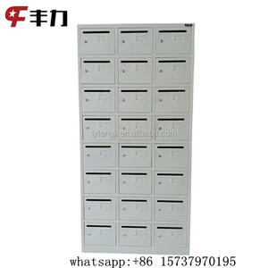 Cold rolled steel 24 door commercial mailboxes for letters