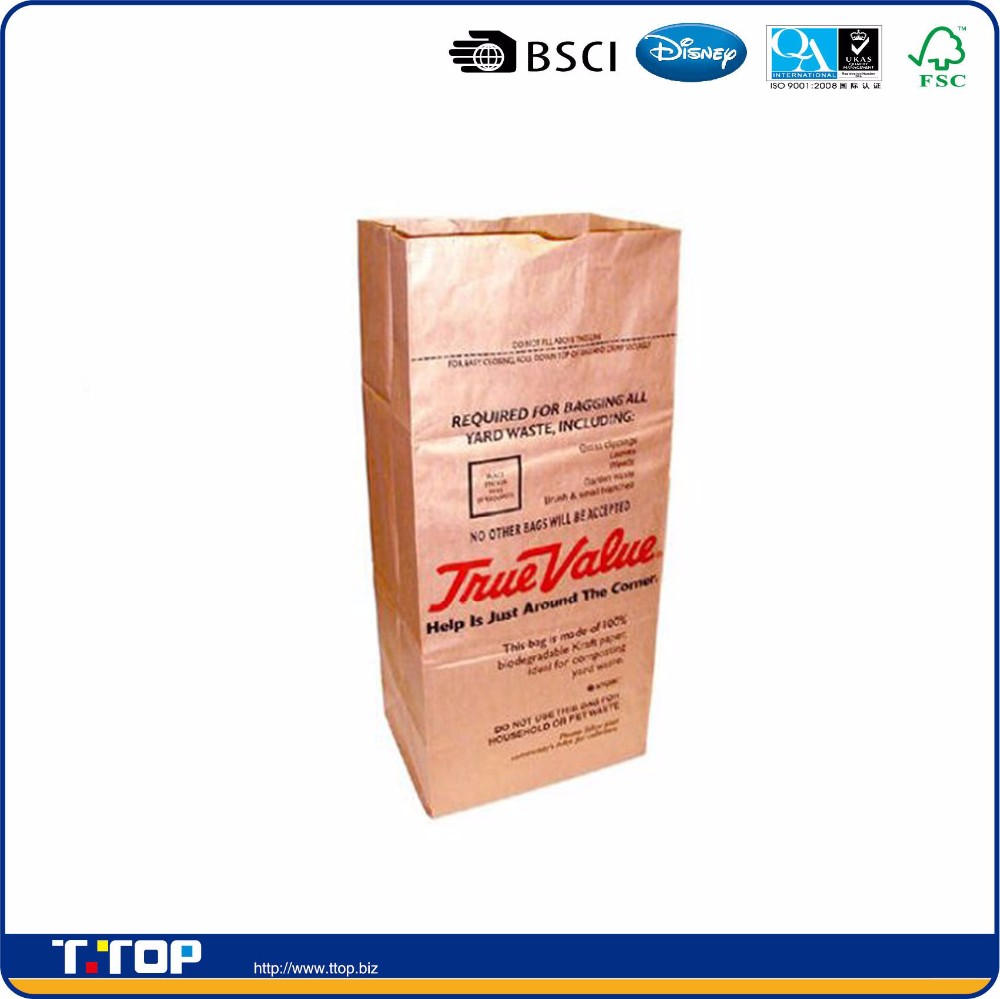 Ampac True Value 30 Gallon Paper Lawn And Leaf Bag Bags With Printed Palm Large Product On Alibaba