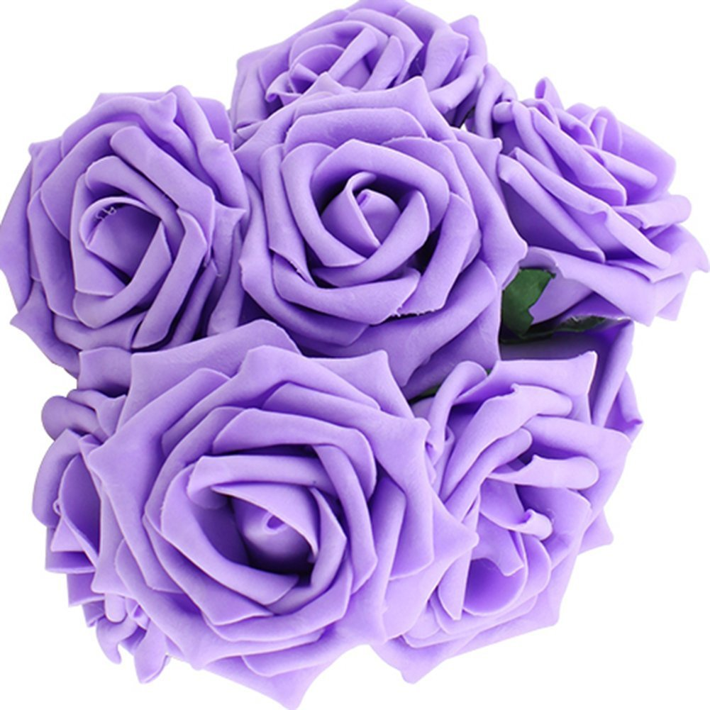 Buy weksi 10pcs latex real touch flowers bouquets rose bridal weksi 10pcs latex real touch flowers bouquets rose bridal wedding bouquet home decor cream color izmirmasajfo