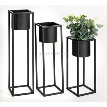 Flower Stand Designs : Metal flower pot stands easy home decorating ideas