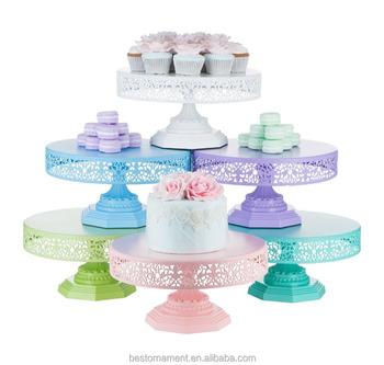 Metal 12 Modern Dessert Wedding Round Cake Stand Buy Silver