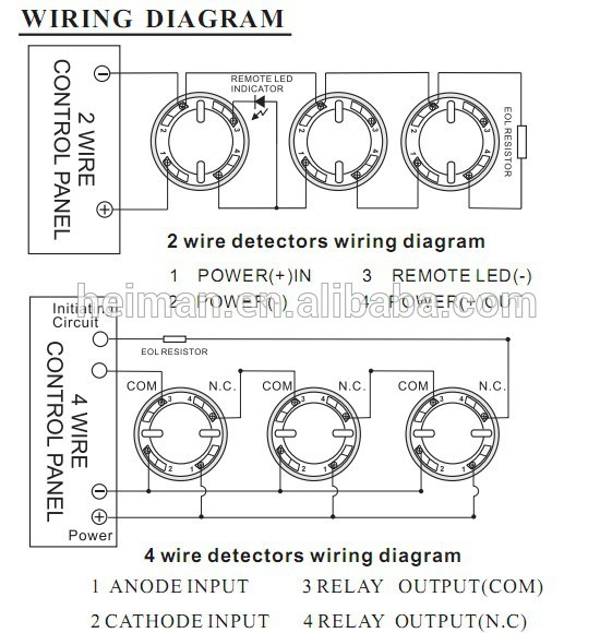 Uv Ir Detector Dc10 30v Fire Alarm System Use 2 Or 4 Wire Smoke