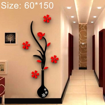 Factory Price Creative 3d Acrylic Stereo Wall Stickers Tv Background Wall Corridor Size 60 150cm Home Decoration Tree Stickers Buy 3d Home Wall