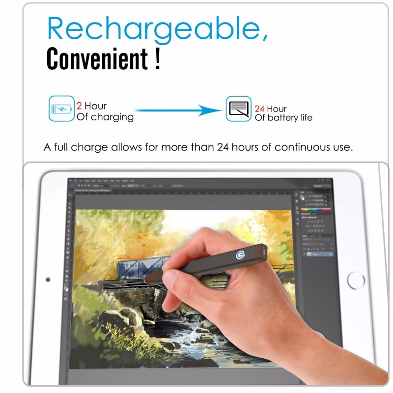 Slim Universal Capacitive Touch Screen Stylus Pen For Ipad