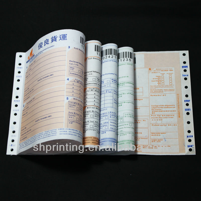 high quality copy paper printing consignment note