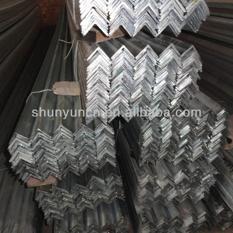 High Quality hot rolled galvanized steel angle with grade DX51D tensile strength of steel angle bar for project material