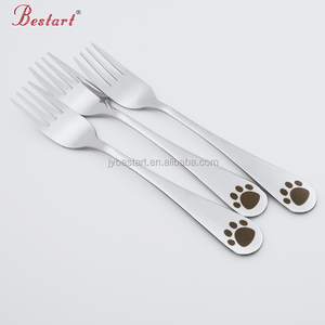 Wholesale high quality mirror polish stainless steel 18/10 cake fork children kids fork set