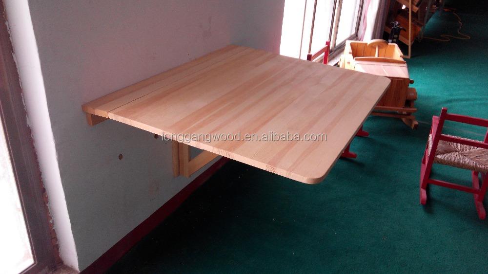 Good Korean Folding Table, Folding Puzzle Table, Wood Wall Folding Table