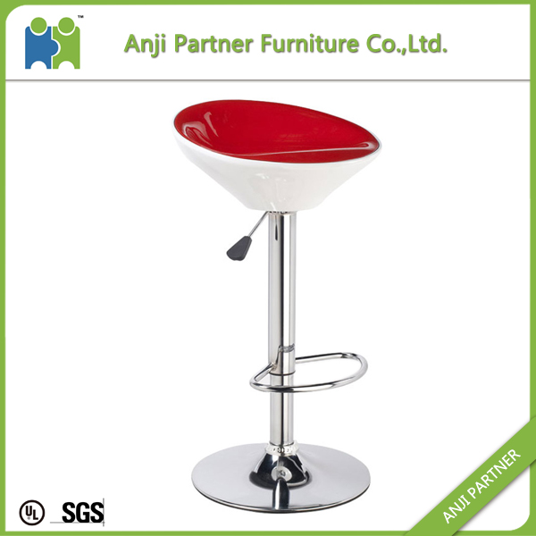customized brand partner furniture 1.1/1.2/1.5mm base thickness plastic bar stool (Saola)