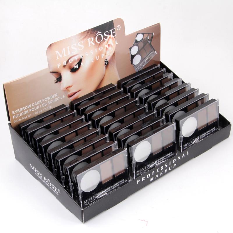 Miss Rose-Kit de maquillaje profesional para cejas, Kit de polvo para cejas, resistente al agua, de larga duración