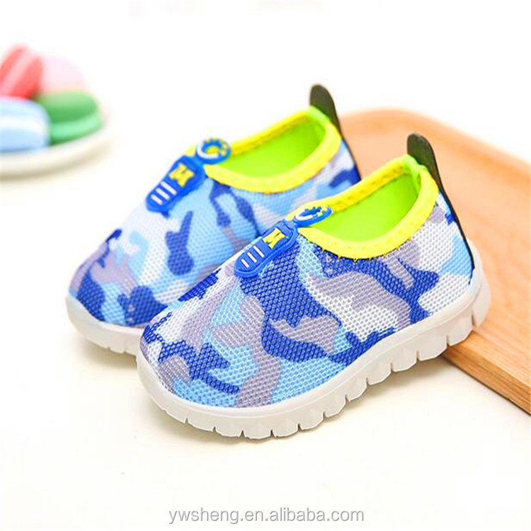 2017 kids sport shoes,children casual Camouflage new design soft baby shoes