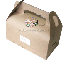 Food Grade Brown Kraft Hot Dog Paper Box