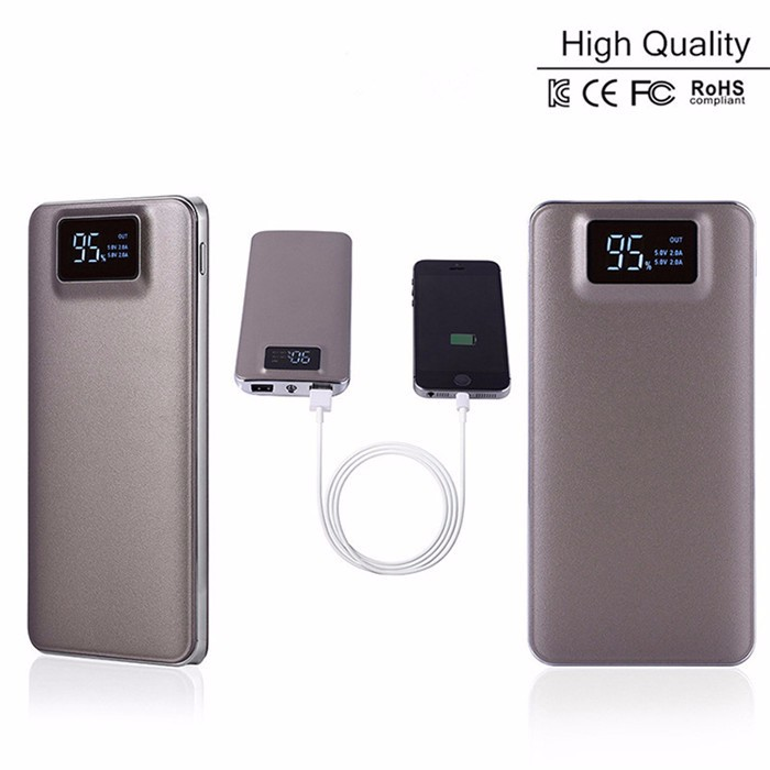 2017 New Arrival high capacity 20000mah power bank LCD screen power bank for Iphone 8 7 for Samsung