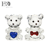H&D X'mas Gifts 2pc Crystal Cute Bear Figurine Miniatures Decorative Animal Paperweight For Home Decor Wedding Favors