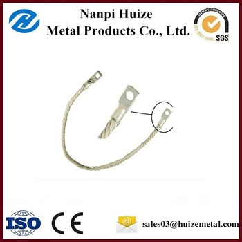 Customized flexible copper braided earth bonding leads