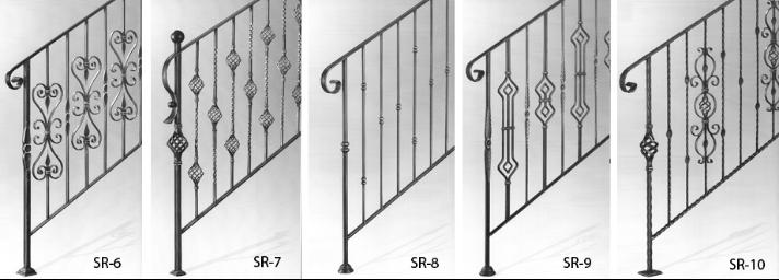 Decoraci n de hierro forjado de metal barandas para - Escaleras de hierro forjado ...
