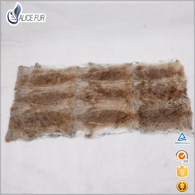 ALICEFUR High quality wholesale price tanned real natural plush fur blanket <strong>rabbit</strong> for sale