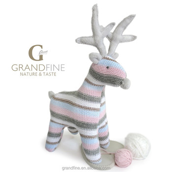 Christmas Knitting Patterns For Babies.Luxury Christmas Knitted Stripe Reindeer Dolls Stuffing Baby Toys Baby Nice Dolls Pass En71 Test Report And Ce And Reach Docs Buy Soft Plush Baby