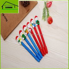 Christmas Gifts Christmas Polymer Clay Pen Wholesale Custom Logo Promotional Ballpoint Pen Cheap Polymer Clay Pen