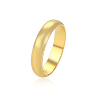 15519 xuping 24k gold plated high polish gold plain gold rings design for women