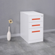KD structure 3 drawer mobile filing cabinet lightweight storage cabinet