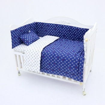 Lovely design winter use warm baby cotton crib sheet bedding set