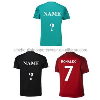 dbd23254e0 Envío gratuito a Alemania Argentina fútbol Portugal 2018 Tailandia calidad  personalizado camiseta de fútbol