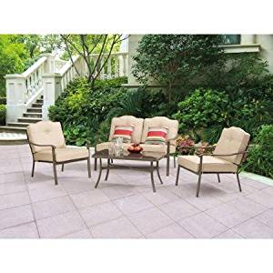 Mainstays Woodland Hills 4-Piece Cool, comfortable, Ventilated Seating Chat Set
