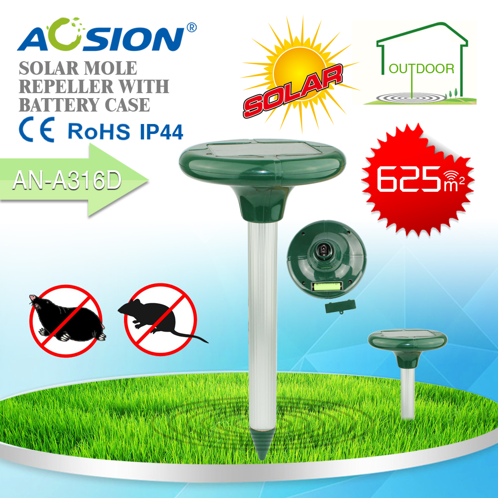 Top Rated High-quality garden sonic mole repeller and solar rodent repellent