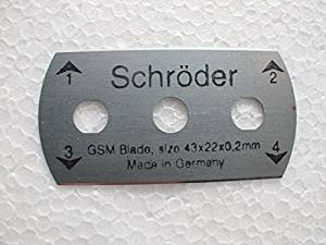The Blade made in Germany Schroder blade for 100 Sqcm Round Sample Cutter Round Cardboard /Textile Carpet Sample Cutter,Applycation Weight test ,100 Sqcm ( 4 blades)